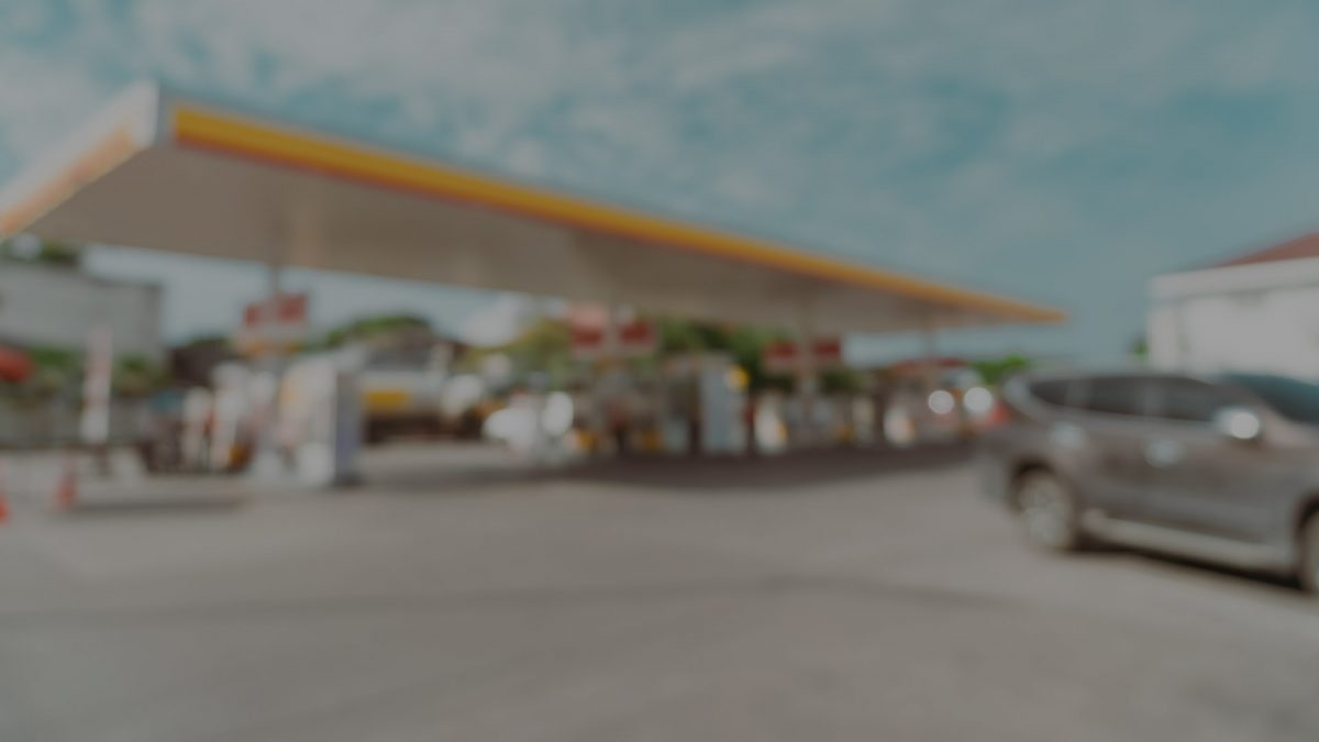 gasoline station in blur mode